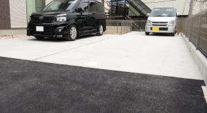駐車場 完成