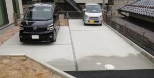 駐車の目安になるスリット