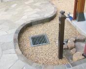 石貼りと樹脂舗装