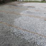 駐車場の水溜りを解消して使いやすくなりました♪