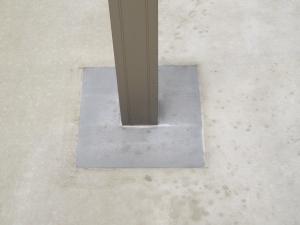 カーポート柱元 コンクリート復旧