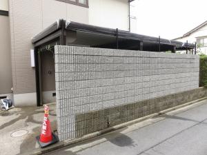 ブロック塀 完成