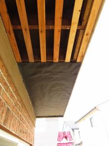 軒下天井 下地修正