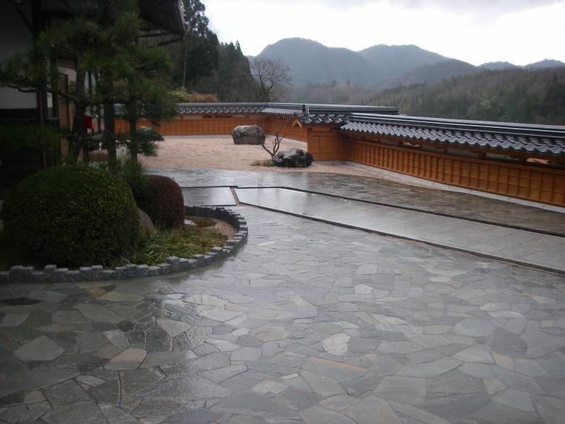 庭園 石貼り工事
