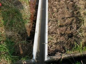 用水路に接続する箇所です
