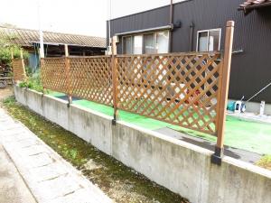 工事前のフェンス