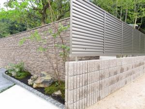 フェンスと門塀
