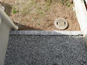 砂利と土の見切り石