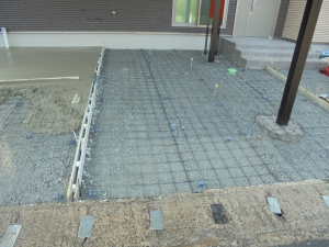 コンクリート 施工中