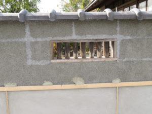 瓦笠と風窓の再利用